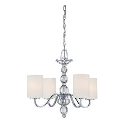 Quoizel - Quoizel DW5004C Downtown 4 Light Chandeliers in Polished Chrome - This 4 light Chandelier from the Downtown collection by Quoizel will enhance your home with a perfect mix of form and function. The features include a Polished Chrome finish applied by experts. This item qualifies for free shipping!