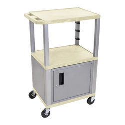 Luxor - H Wilson Presentation Cart - WT42OWC4E-N - H Wilson's WT Tuffy multi-purpose carts are made of high density polyethylene structural foam injection molded plastic shelves and legs that will not chip, warp, crack, rust or peel. Shelves and legs can be recycled.