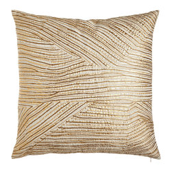 John Robshaw - Midas Metallic Stripe Pillow - GOLD - John RobshawMidas Metallic Stripe Pillow