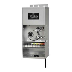Hinkley Lighting - Exterior 1200W Pro Series High Output Transformer - Pro-Series transformers are supplied with a 3 foot grounded line cord and is epoxy encapsulated with a stainless steel enclosure. Features 12v-22v multi-tap outputs and circuit breaker protection. Available in 300 watts, 600 watts, 600 watts high output, 900 watts, 900 watts high output, and 1200 watts high output. ETL listed. 8.W x 18H x 7L.