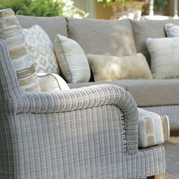 Outdoor Furniture For Oceanfront Houses - Check out the details of Summer Classics London collection. This outdoor wicker deep seating set brings comfort, durability, and luxury to your outdoor space!