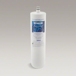 KOHLER - KOHLER Aquifer(R) high-flow refill filter cartridge - Invest in pure water by placing the Aquifer filtration system discreetly underneath your sink. This filter cartridge quickly twists in and out with a quarter turn, making it easy to replace.