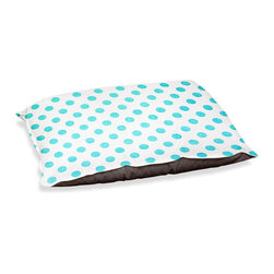 "DiaNoche Designs - Dog Pet Bed Fleece - Colored Dots Turquoise - DiaNoche Designs works with artists from around the world to bring unique, designer products to decorate all aspects of your home.  Our artistic Pet Beds will be the talk of every guest to visit your home!  BARK! BARK! BARK!  MEOW...  Meow...  Reallly means, ""Hey everybody!  Look at my cool bed!""  Our Pet Beds are topped with a snuggly fuzzy coral fleece and a durable underside material.  Machine Wash upon arrival for maximum softness.  MADE IN THE USA."