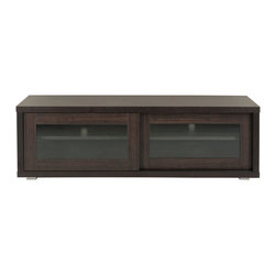 Safavieh - Lincoln Sliding Door Tv Cabinet - Armed with crowd-pleasing details, The Lincoln Sliding Door TV Cabinet is social media. Pairing a luxurious, dark brown wood grain finish with sturdy, metal legs, its simple and sophisticated lines and semi-transparent doors blend perfectly into modern or contemporary dcor. (Pending)