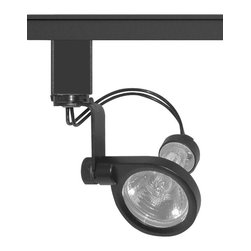 """Juno Lighting - Trac 12 TL110 MR11 Mini Gimbal Ring Track Head, Tl110bl - With a minimal 2-1/2"""" displacement from trac, the MR11 Mini Gimbal Ring is the clear choice for spotlighting in confined spaces such as cabinetry, casework or displays"""