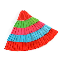 Ruffle Tree Skirts - ¡Feliz navidad! You'll feel like it's a fiesta every time you pass your Christmas tree with this gorgeous multicolored ruffle tree skirt.
