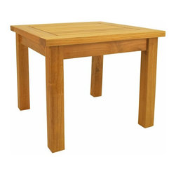 "Anderson Teak - Bahama 20"" Square Mini Table - This Mini Side Table is simple, straightforward and sturdy. Strong enough to sit on, perfect for snack or functional table."