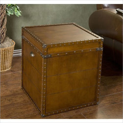 Holly & Martin - Holly & Martin Bristol Trunk End Table in Walnut - Holly and Martin - End Tables - 01047024339