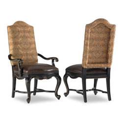 Hooker Furniture - Hooker Furniture Set of 2 Grandover Upholstered Arm Chair 5029-75500 - Grandover is a high-drama European traditional collection updated for today with a modern outlook and functional details.