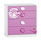 "Cilek - Princess Drawer - Princess drawer straightforward with with large and amusing handles. It can be fitted with a mirror, which can be purchased separately, for added functionality. Princess drawer is great addition to ""Pretty in Pink"" collection."