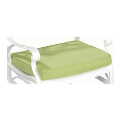 HomeStyles - Outdoor Seat Cushion - Includes two tie on cords to hold cushions in place. Fade resistant over a polyurethane foam core. Water repellent. Made from 100% woven polyester and sunbrella fabric. Green color. 19.68 in. W x 18.5 in. D x 1.97 in. H. Warranty
