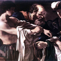 "Guercino  Return of the Prodigal Son - 16"" x 24"" Premium Archival Print - 16"" x 24"" Guercino  Return of the Prodigal Son premium archival print reproduced to meet museum quality standards. Our museum quality archival prints are produced using high-precision print technology for a more accurate reproduction printed on high quality, heavyweight matte presentation paper with fade-resistant, archival inks. Our progressive business model allows us to offer works of art to you at the best wholesale pricing, significantly less than art gallery prices, affordable to all. This line of artwork is produced with extra white border space (if you choose to have it framed, for your framer to work with to frame properly or utilize a larger mat and/or frame).  We present a comprehensive collection of exceptional art reproductions byGuercino ."