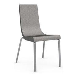 Calligaris - Cruiser Chair, Chrome Frame, Denver A03 Color Fabric (Cord), Set of 2 - Polyurethane Foam