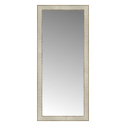 """Posters 2 Prints, LLC - 18"""" x 40"""" Libretto Antique Silver Custom Framed Mirror - 18"""" x 40"""" Custom Framed Mirror made by Posters 2 Prints. Standard glass with unrivaled selection of crafted mirror frames.  Protected with category II safety backing to keep glass fragments together should the mirror be accidentally broken.  Safe arrival guaranteed.  Made in the United States of America"""