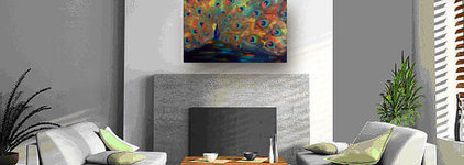 Abstract PEACOCK Painting ORIGINAL Large COLORFUL by benwill