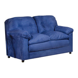 Chelsea Home Furniture - Chelsea Home Lisa Loveseat in Cobalt Blue - Lisa loveseat in cobalt blue belongs to Triad collection by Chelsea Home Furniture