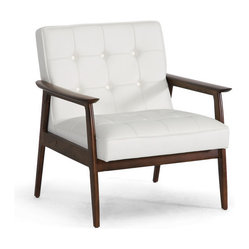 White Midcentury Modern Club Chair