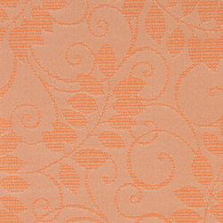 Orange Vines And Leave Outdoor Indoor Marine Upholstery Fabric By The Yard - This material is an upholstery grade outdoor and indoor fabric. It is stain, water, mildew, bacteria and fading resistant. It is also Scotchgarded for further stain resistance and durability. This material is woven for superior appearance.