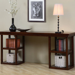 Walnut Cherry Ladder Console Table -