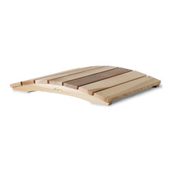 All Things Cedar - 2ft. Cedar Garden Gnome Bridge - In addition to their great functional value, our arched garden bridges satisfy with solid cedar sides and clear Western Red Cedar foot planks. : DIMENSIONS : 24w x 29d x 4h  (unassembled kit)