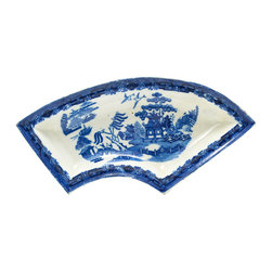 Lavish Shoestring - Consigned Blue & White Snacks Serving Dish English Early 1800s - This is a vintage one-of-a-kind item.