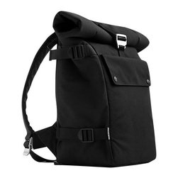 BlueLounge - Bonobo Backpack - When you're trekking the wilds of the work or school jungle, you'll be ready for anything with this stylish pack on your back. The durable black fabric is made of recycled plastic bottles and features comfy shoulder straps, a large main compartment with a padded area to hold up to a 17-inch laptop, a padded notebook sleeve and quick release buckles.