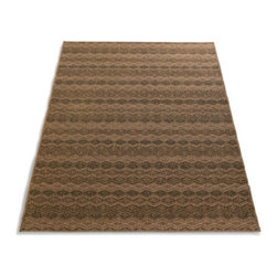"Grandin Road - Kenya Indoor Area Rug - 26"" x 40"" - Neutral-hued area rug. Machine woven construction. 100% Olefin. Indoor/outdoor versatility. Extend the life of your rug with one of our indoor or outdoor rug pads (sold separately). Our Kenya Rug offers great texture and high-traffic durability. The intertwined flatweave pattern is fashioned from tan, black, and ivory olefin that's so sturdy, it can even go outside.  .  .  .  .  . Imported."