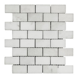 STONE TILE US - Stonetileus 10 pieces (10 Sq.ft) of Mosaic Imperial-White- 1 1/2x3 Tumbled - STONE TILE US - Mosaic Tile - Imperial-White 1 1/2x3 Tumbled Specifications: Coverage: 1 Sq.ft size:  - 1 Sq.ft/Sheet Piece per Sheet : 32 pc(s) Sheet mount:Meshed back Stone tiles have natural variations therefore color may vary between tiles. This tile contains mixture of white - light gray - and color movement expectation of low variation, consistent, The beauty of this natural stone Mosaic comes with the convenience of high quality and easy installation advantage. This tile has Tumbled surface, and this makes them ideal for floor, walls, kitchen, bathroom, outdoor, Sheets are curved on all four sides, allowing them to fit together to produce a seamless surface area. Recommended use: Indoor - Outdoor - High traffic - Low traffic - Recommended areas: Imperial-White 1 1/2x3 Tumbled tile ideal for floor, walls, kitchen, bathroom, Free shipping.. Set of 10 pieces, Covers 10 sq.ft.