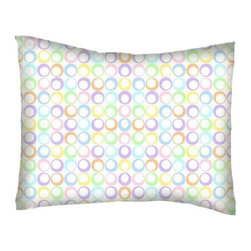 SheetWorld - SheetWorld Crib / Toddler Percale Baby Pillow Case - Pastel Colorful Rings Woven - Baby or Toddler pillow case. Made of an all cotton percale fabric. Opening is in the back center and is envelope style for a secure closure.