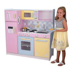 KidKraft - Large Kitchen by Kidkraft - Bon app tit! It�s time to cook up some creativity with our classic kitchen! This kid-sized favorite features bright colors, imaginative details and is sure to impress the young chefs in your life.