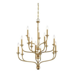Minka Lavery - Minka Lavery 4178-249 15 Light 3 Tier Candle Style Chandelier from the Harbour P - Fifteen Light Three Tier Candle Style Chandelier from the Harbour Point CollectionFeatures: