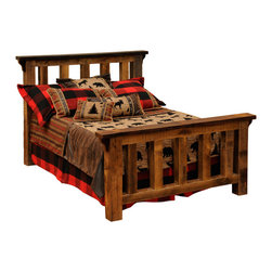 "Fireside Lodge - Barnwood Post Bed Reclaimed Rustic Wood, California King Size - A  Barnwood  Post  Bed, california king size  crafted  with  authentic  reclaimed  rustic  wood  will  make  an  attractive  addition  to  your  rustic  bedroom  decor.  Each  of  these  aged  wooded  beds  is  carefully  crafted  with  sturdy  barnwood  posts  salvaged  from  buildings  or  barns  built  in  the  1800s.  Coated  with  a  finish  of  clear  catalyzed  lacquer  to  help  retain  wood  character,  each  bed  also  features  full-length  hard  wood  rails.  The  design  features  heavy  vertical  wooden  posts  or  barnwood  beams,  flanked  by  two  more  beams,  and  capped  with  a  barnwood  shelf  supported  with  aged  wood  corbels.  Even  heavier  wooden  posts  form  the  legs  of  the  bed.  This  beautiful  reclaimed  wood  bed  is  constructed  using  old-world  mortise  and  tenon  building  techniques.  It  is  sturdy  enough  to  withstand  generations  of  use.          For  additional  under-bed  storage,  consider  adding  an  underbed  dresser  with  drawers.                  Sturdy  hardwood  rails              Made  in  USA              Under-bed  T-support  is  standard  in  King  and  Queen  sizes              Headboard:  60  inches  high              Footboard:  35  inches  high              Limited  lifetime  guarantee              Choose  from  antique  oak  or  vintage  cedar  finish  stain  colors                     Free  curbside  shipping  in  lower  48  states.              This  bed  is  extremely  heavy.  Consider  available  upgraded  shipping  options.                Made-to-order;  Allow  4-6  weeks  for  shipping                                Complete  Standard  Reclaimed  Barnwood   Post  Bed                                    Size                      Model                      Dimensions                      Weight                      Price                                      King                      B10012                      91Wx91Lx60H                      570                      2139.00                                      California  King                      B10012-CK                      85Wx96Lx60H                      780                      2399.00                                      Queen                      B10042                      73Wx91Lx61H                      520                      1939.00                                      Full  (Double)                      B10072                      67Wx86Lx60H                      460                      1839.00                                      Twin  (Single)                      B10102                      52Wx86Lx60H                      380                      1649.00                                               Complete  Platform  Bed  -  (mattress  rests  on  a  raised  barnwood  platform  -  no  footboard)                                    Size                      Model                      Dimenisons                      Weight                      Price                                      King                      B10010-PF                      83Wx89Lx53H                      570                      2139.00                                      California  King                      B10010-CK-PF                      77Wx94Lx55H                      770                      2399.00                                      Queen                      B10040-PF                      65Wx89Lx53H                      690                      2229.00                                      Full  (Double)                      B10070-PF                      59Wx84Lx53H                      560                      2129.00                                      Twin  (Single)                      B10100-PF                      44Wx84Lx53H                      455                      1959.00                                               Headboard  Only  (Includes  Rails)                                    Size                      Model                      Dimensions                      Weight                      Price                                      King  Headboard                      B10022                      91""Wx60H                      360                      1179.00                                      California  King  Headboard                      B10022-CK                      85""Wx60H                      350                      1179.00                                      Queen  Headboard                      B10052                      73""Wx60H                      330                      1059.00                                      Full  (Double)  Headboard                      B10082                      67""Wx60""H                      300                      1019.00                                      Twin  (Single)  Headboard                      B10112                      52Wx60H                      260                      909.00"