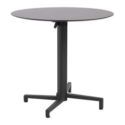"Eurostyle - Compact Laminate Round Table 31.5"" (Set of 2) - Anthracite - Compact laminate"