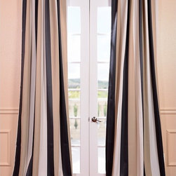 EFF - Georgetown Stripe Blackout Curtain Panel - You will instantly fall in love with our blackout curtains and drapes. The fabric is super soft with a refined texture made with a special polyester yarn. These curtains keep the light out and provides optimal thermal insulation.