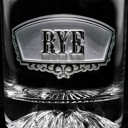 Rye Banner Glass, Set of 4 Engraved
