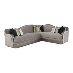 Hollywood Swank Sectional Sofa - Silver