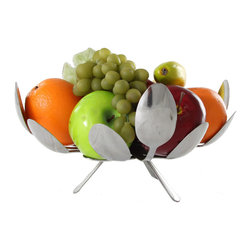 Forked Up Art - Fruit Bowl - Square - You could go with a normal fruitbowl, but WHY?!? This incredibly unique fruitbowl is one that will brighten up your kitchen scene, and will impress your guests. This is a bit shallower than the round bowl because of the configuration of the spoons, and holds your fruit or dinner rolls quite well.