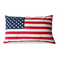 Old Glory Outdoor Pillow - A fantastic way to showcase your American Spirit in your outdoor space. The Old Glory Outdoor Pillow features a muted flag with a vintage appeal that draws the eye in and enchants any furniture that it sits in.