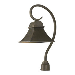 World Imports - Dark Sky Revere Outdoor Post Light, Flemish - Solid brass fixture is ideal for outdoor installation