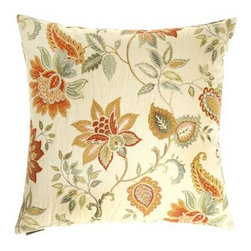 D.V. KAP Home - Veranda Cream 24 x 24 Decorative Pillow - -24x24 zippered removable cover  -Comes with Feather/Down insert  -Spot or dry clean D.V. KAP Home - 2068-C