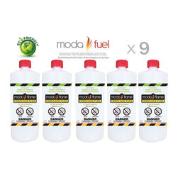 Moda Flame - Moda Flame 1 Quart Ventless Bio Ethanol Fireplace Fuel (9 Bottles) - Moda Flame 1 Quart Ventless Bio Ethanol Fireplace Fuel (9 Bottles)