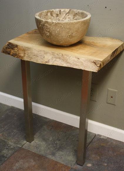 handmade live edge hardwood bathroom vanity. Black Bedroom Furniture Sets. Home Design Ideas