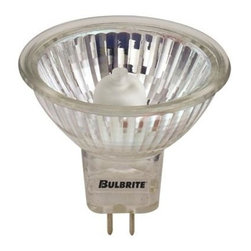 Bulbrite - Lensed Halogen Light Bulbs - 10 Bulbs (20w) - Choose Wattage: 20wOne pack of 10 Bulbs. 24 V standard GU5.3 bi-pin base MR16 bulb. Provides UV protection. Ideal for residential and commercial applications. Perfect for track, landscape, recessed cans, down lights and landscape lighting. Dimmable. Average hours: 2000. Color rendering index: 100. Color temperature: 2700K35 watt:. 12 degree beam spread. Lumens: 7000CP50 watt. Lumens: 10000CP. 12 degrees beam spread75 watt:. Lumens: 11500CP. 14 degrees beam spread. Maximum overall length: 1.87 in.