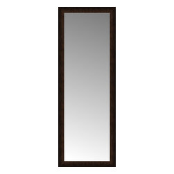 """Posters 2 Prints, LLC - 24"""" x 65"""" Dark Copper Custom Framed Mirror - 24"""" x 65"""" Custom Framed Mirror made by Posters 2 Prints. Standard glass with unrivaled selection of crafted mirror frames.  Protected with category II safety backing to keep glass fragments together should the mirror be accidentally broken.  Safe arrival guaranteed.  Made in the United States of America"""