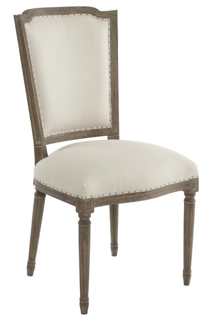 traditional dining chairs and benches by Rebekah Zaveloff