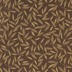 Brown And Gold Floral Leaf Contract Grade Upholstery Fabric By The Yard - P0952 is great for residential, commercial, automotive and hospitality applications. This contract grade fabric is Teflon coated for superior stain resistance, and is very easy to clean and maintain. This material is perfect for restaurants, offices, residential uses, and automotive upholstery.