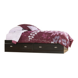 Sauder - Sauder Shoal Creek Mates Bed in Jamocha Wood - Sauder - Beds - 412093