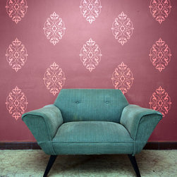 Swirling Arabesque Vinyl Wall Decals - Create your own allover traditional and classic pattern with our Swirling Arabesque Motif Vinyl Wall Decal from Wallternatives and class up any space.