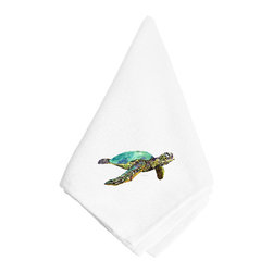 Caroline's Treasures - Turtle Napkin 8659NAP - Dinner Napkin - 100% polyester - wash, dry and lay flat.  No ironing needed.  20 inch by 20 inch