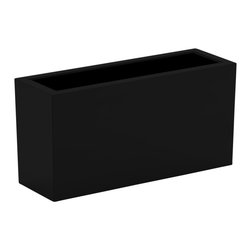 Decorpro - Large Aberdeen Planter, Black - The Aberdeen planter is perfect for indoor and outdoor use. Use this planter indoors to create an amazing garden for fresh herbs and vegetables. The slender depth and elongated width allows for a versatile range of placements and uses.